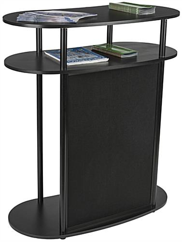 Hook and Loop Exhibit Podium, Aluminum Rods