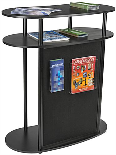 Portable Hook and Loop Exhibit Podium