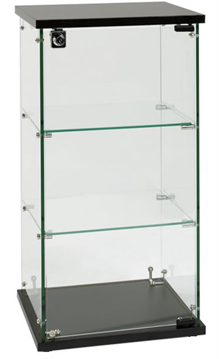 Countertop Glass Display Case 2 Shelves