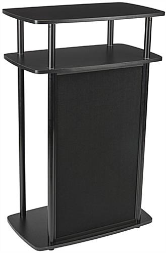 Black Exhibit Counter With Hook and Loop Panel