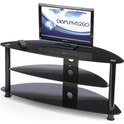 Glass Corner Tv Stand 3 Shelves For Media Equipment