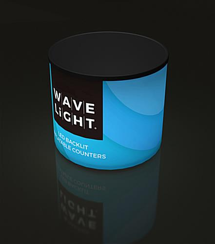 WaveLight® Air small round backlit inflatable mini counter with custom wrap around SEG graphic