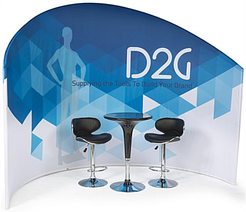Trade Show Furniture and Graphics Kit with Stools & Table