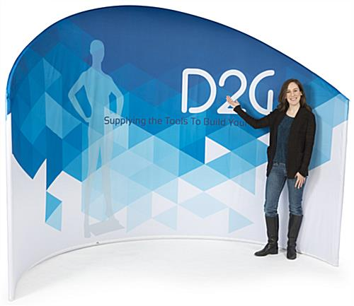 Trade Show Privacy Wall with Zipping Cover