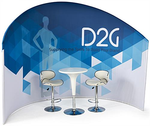 Trade Show Furniture and Graphics Set for Comfortable Conventions
