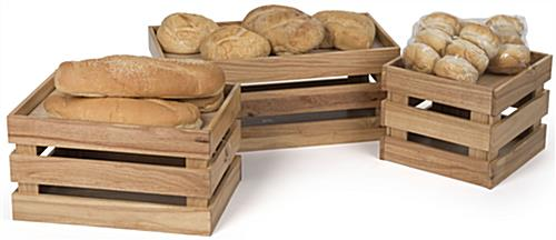 Wooden Produce Boxes for Breads or Produce