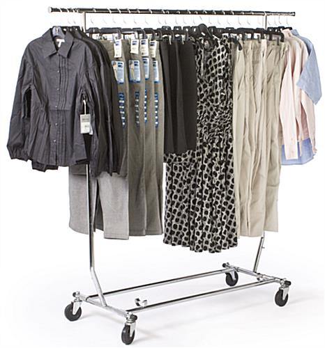 Rolling Rack Is Collapsible For Storage