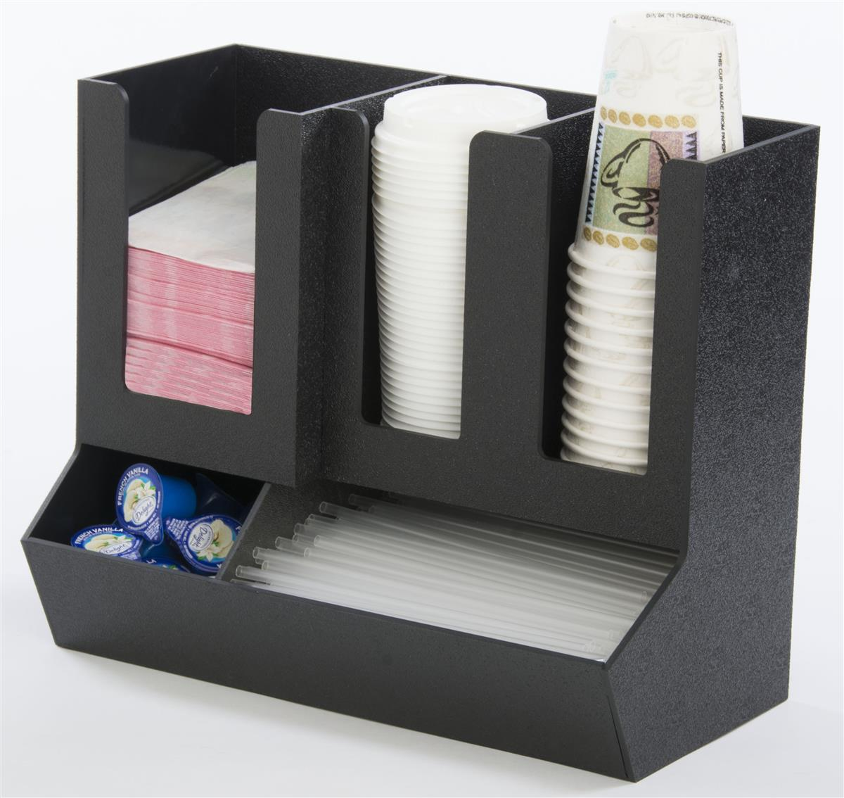 Coffee Organizer Station Countertop or Wall Mount with (5) Sections