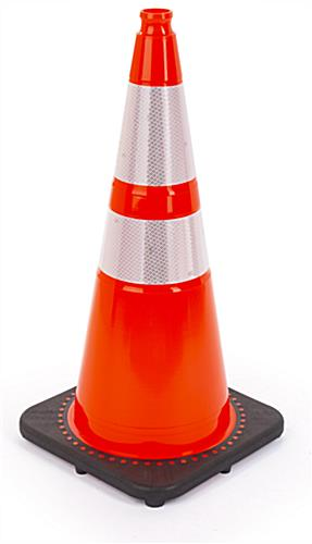 Orange traffic cone with 14 inch black base