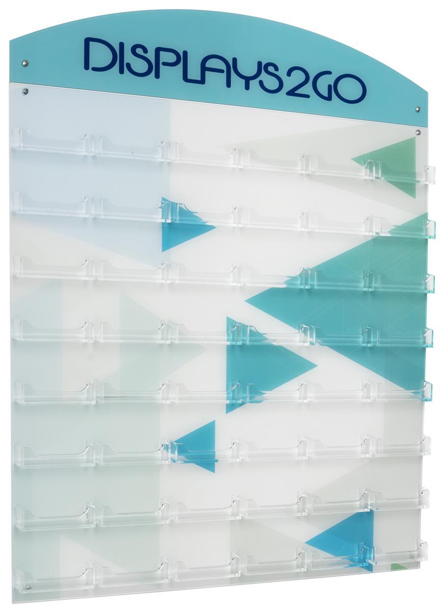 Workshop Series 48-Pocket Business Card Holder for Wall, Custom Back &  Header - Clear