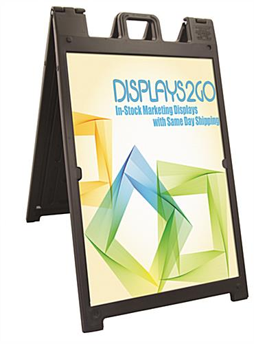 Sandwich Board with Custom Inserts, Black
