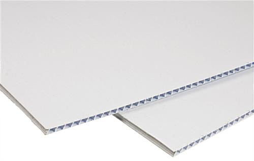 Blank corrugated plastic sign with 3/16th inch thickness