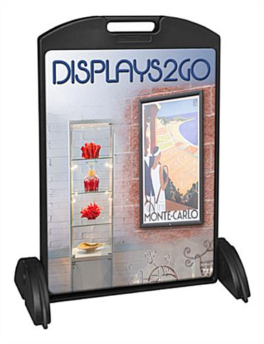 24 x 36 Sidewalk Sign with Printed Boards, Black