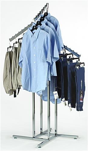 Clothing Racks with 4 Waterfall Hooks