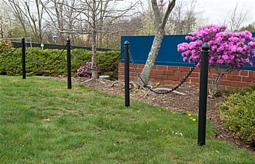 Plastic Ground Post Stanchions with C-Hooks