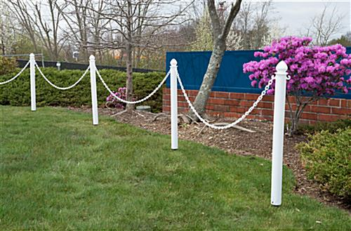Outdoor Plastic Stanchions with Spike Base & C-Hooks