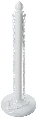 Outdoor White Plastic Chain Rope Stanchions