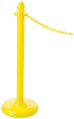 Lightweight Yellow Plastic Post Stanchions