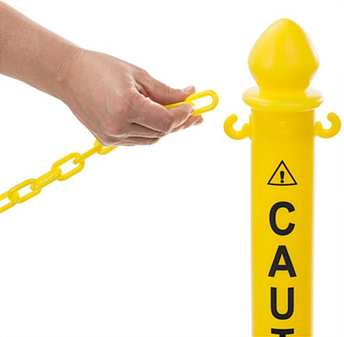 Plastic Caution Posts with C-Hooks