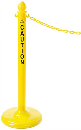 Plastic Caution Posts with Acorn Top
