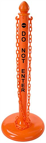 Outdoor Orange Stanchion Safety Post & Chain Kit