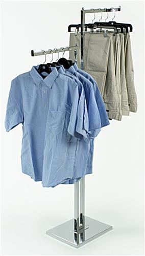 Double-sided Clothing Rack