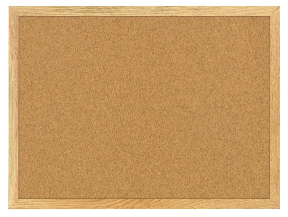 Tack Board Wood Frame W Oak Finish 24 Quot X 18 Quot