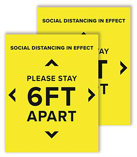 6 feet social distancing posters sold in sets of two