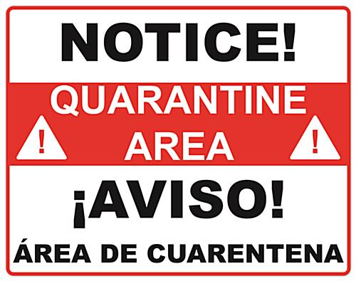 Set of 2 bilingual quarantine posters