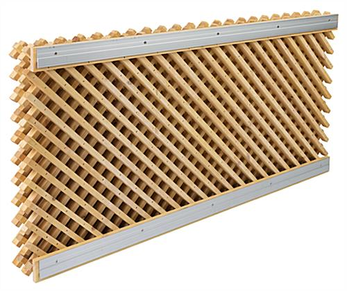 Designer Retail Lattice Slatwall Fixture Kit with Mounting Bars