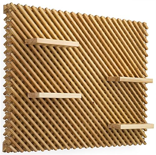 Wooden Large Retail Lattice Slatwall Panel Wall Set