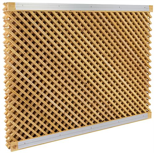 Large Retail Lattice Slatwall Panel Wall Set with Mounting Bars