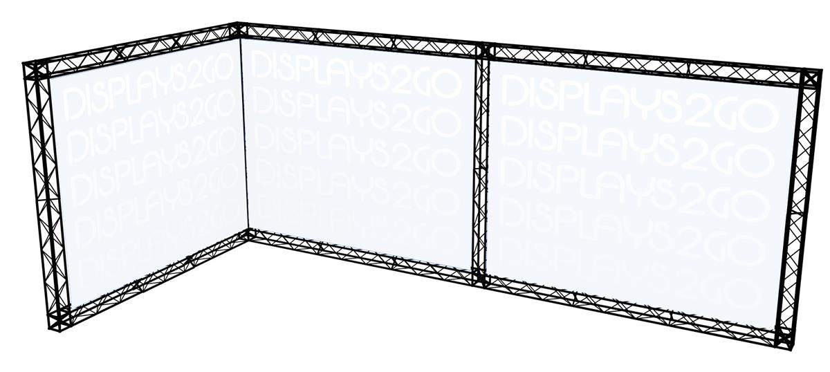 Expo Stands Shape Of You : Truss trade show booth l shaped design