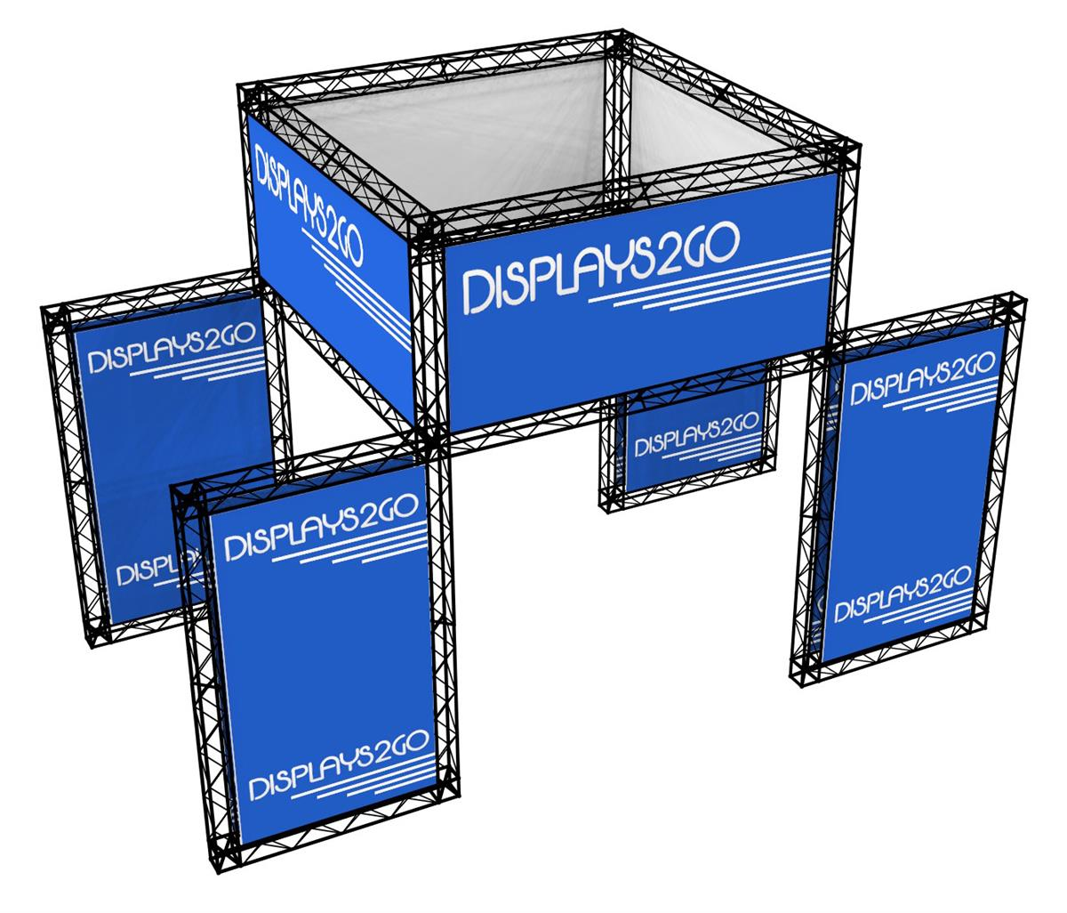 Exhibition Booth Height : All in one exhibition truss system custom graphics & cases