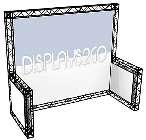 10 x 10 Truss Trade Show Booth. Aluminum