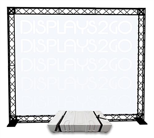 "10' Trade Show Truss Display, 8.5"" Case Height"