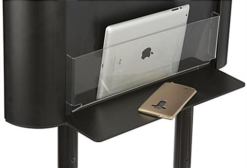 Shelf for Wall Mounting Charging Stations Holds Devices