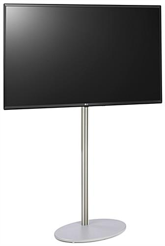 Electronic signage stand features a 55 inch 4K UHD commercial display