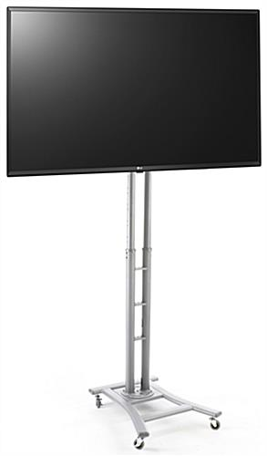 Portable digital signage kit with 43 inch tv and height adjustable base
