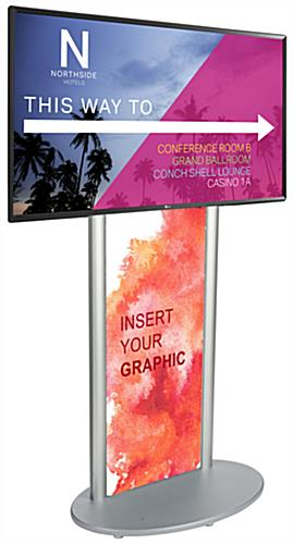 Digital information display with poster insert in base