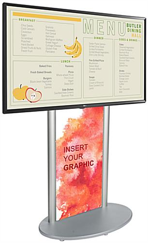 Indoor digital signage with area for 21.5 inch x 60 inch poster