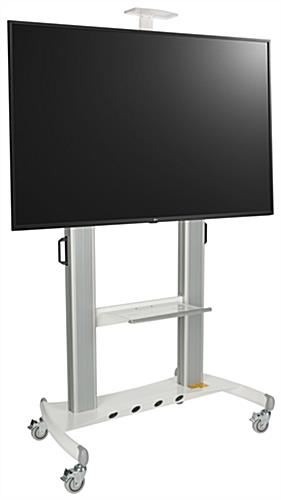 Stand alone digital signage set with large 65 inch 4K UHD LG television