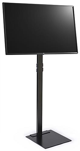 LED display stand with TV has 90 lbs weight capacity