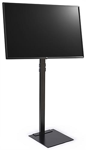 Advertising TV stand with 49 inch LG monitor