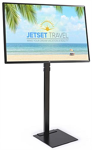 Digital sign package with LG SuperSign software built into TV