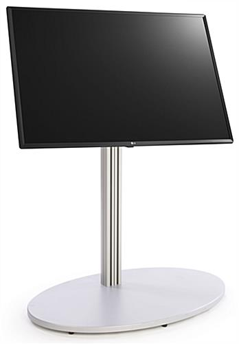 Digital directory stand with tilting mount mechanism