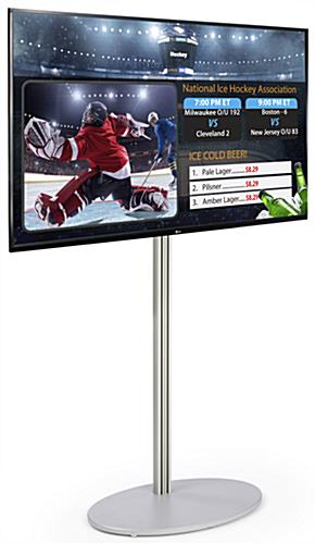 TV Digital Signage with Stand, Silver