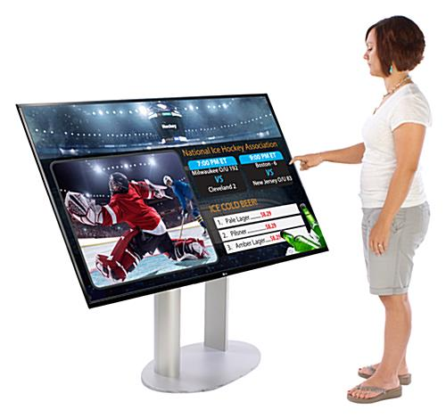 "55"" Black Monitor and Lobby Digital Signage Kit"