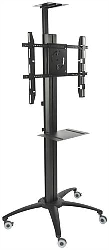 "Bracket of Mounting 55"" TV on Rolling Digital Signage Display"