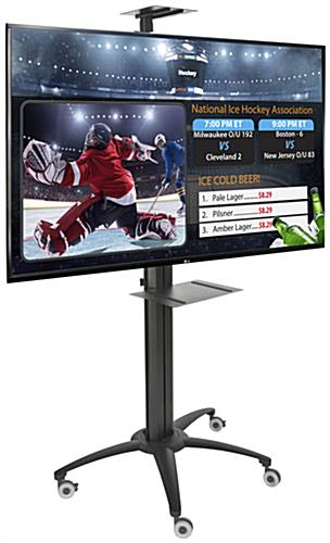 "55"" HDTV on Rolling Digital Signage Display"